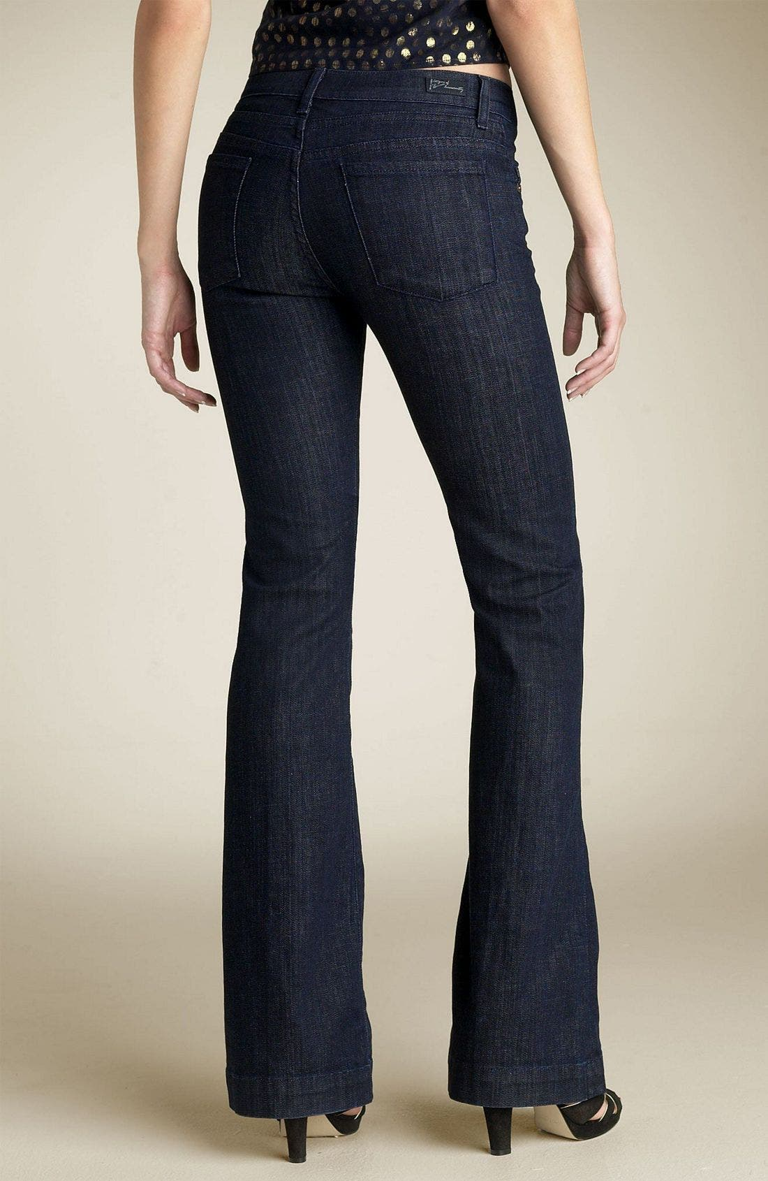Main Image - Citizens of Humanity 'Hutton' High Rise Wide Leg Stretch Denim Trousers (Dark Paris Wash)