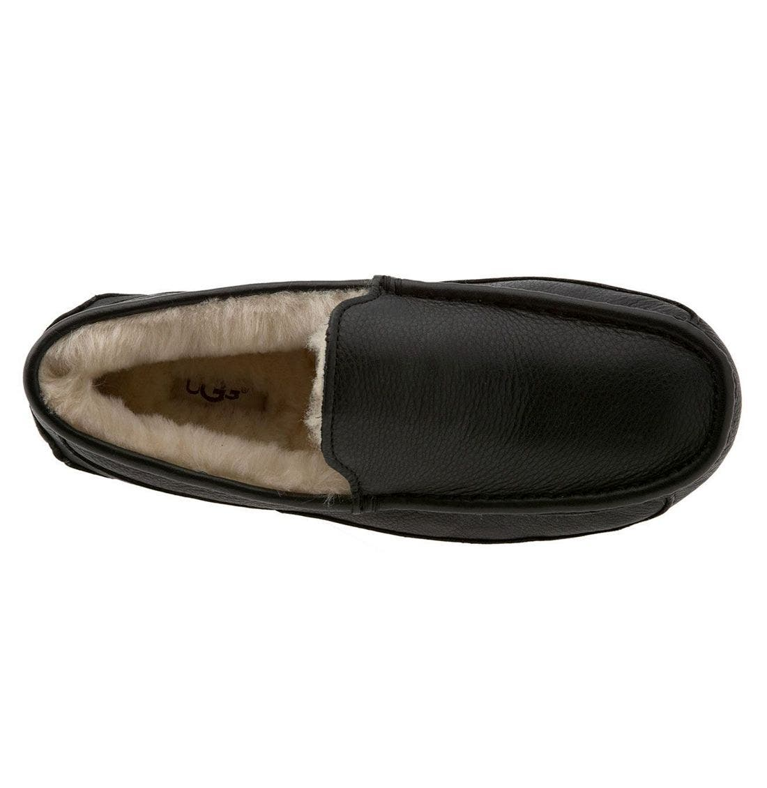 Alternate Image 3  - UGG® Ascot Leather Slipper (Men)
