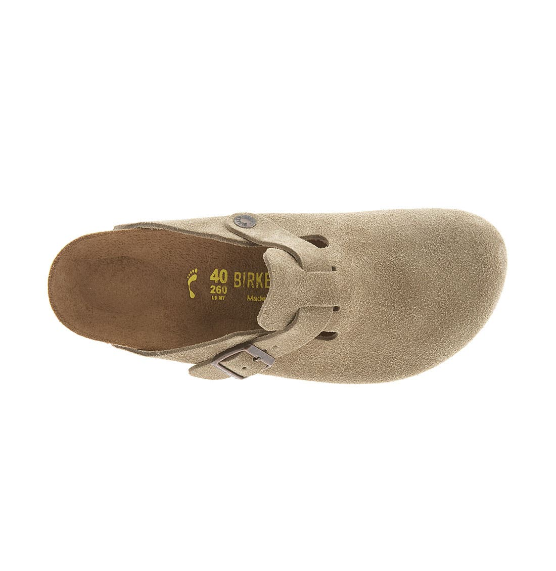 Alternate Image 3  - Birkenstock 'Boston' Classic Suede Clog (Women)