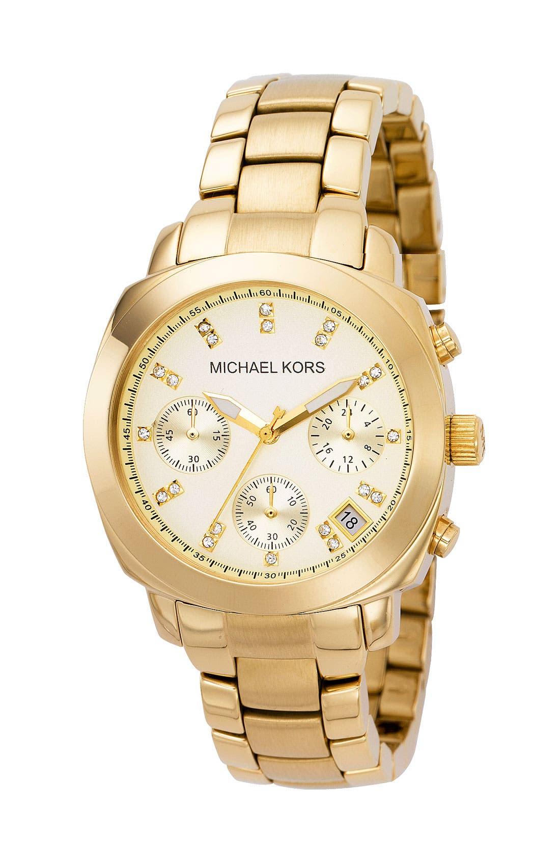 Michael Kors Chronograph Bracelet Watch, 35mm,                         Main,                         color, Gold
