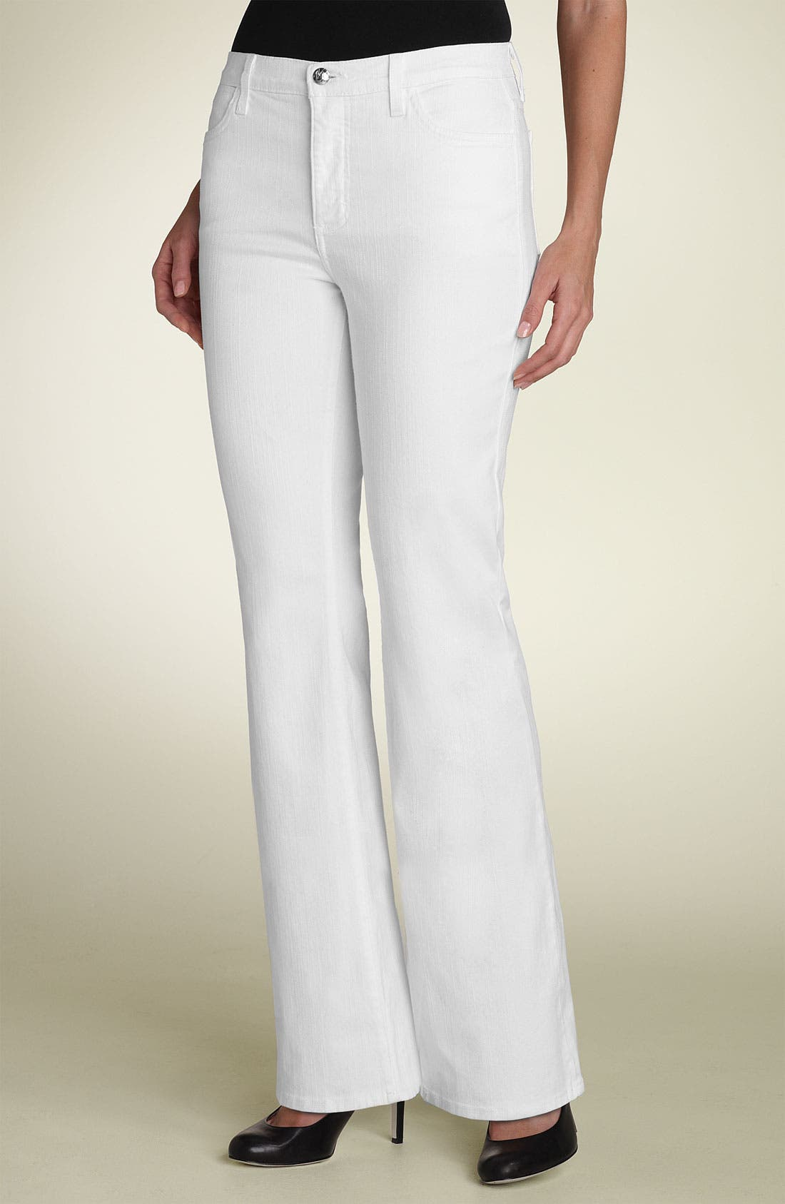 Alternate Image 2  - Not Your Daughter's Jeans® Tummy Tuck® Rhinestone Bootcut Jeans (Petite)
