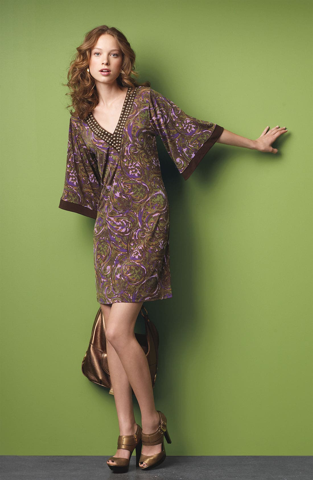 Alternate Image 2  - MICHAEL Michael Kors Studded Matte Jersey Dress