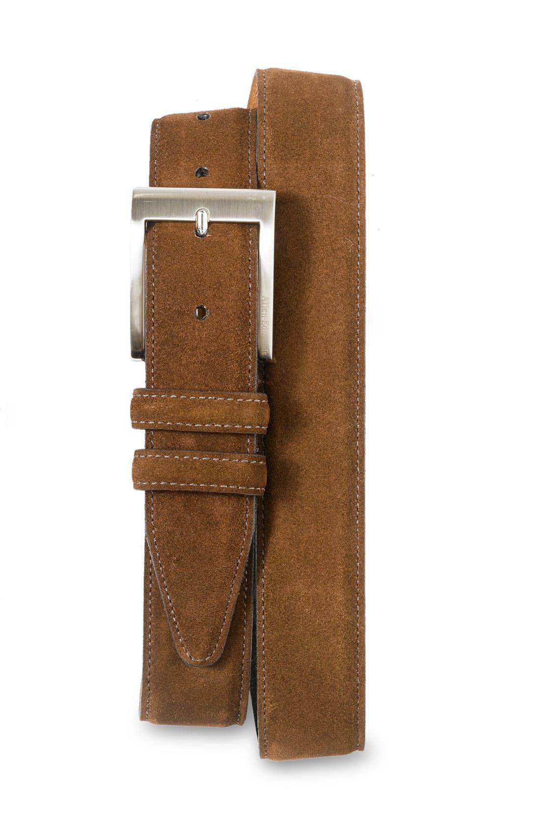 Alternate Image 1 Selected - Allen Edmonds Classic Suede Belt
