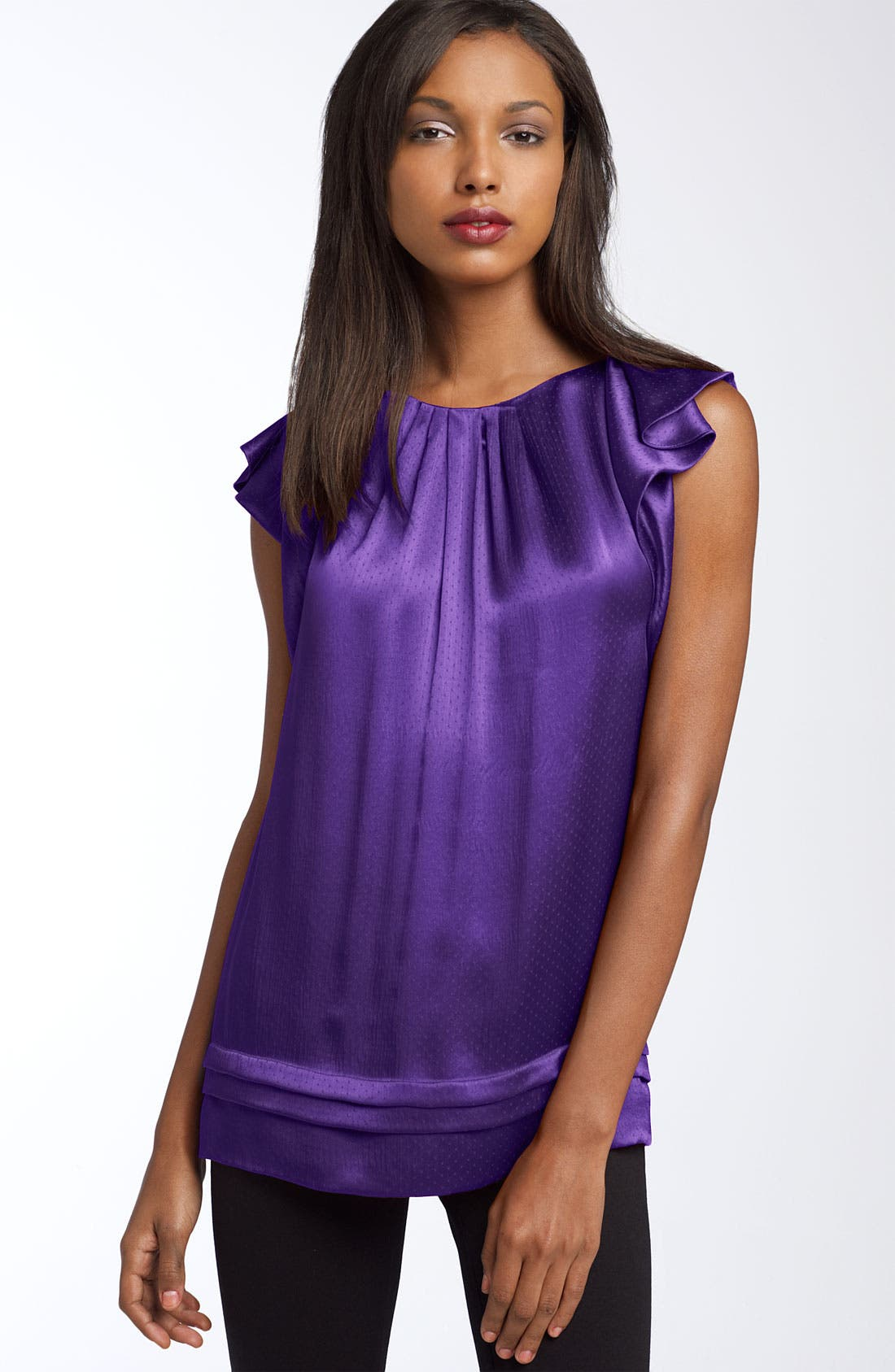 Alternate Image 1 Selected - Diane von Furstenberg 'Lindella' Ruffled Silk Top