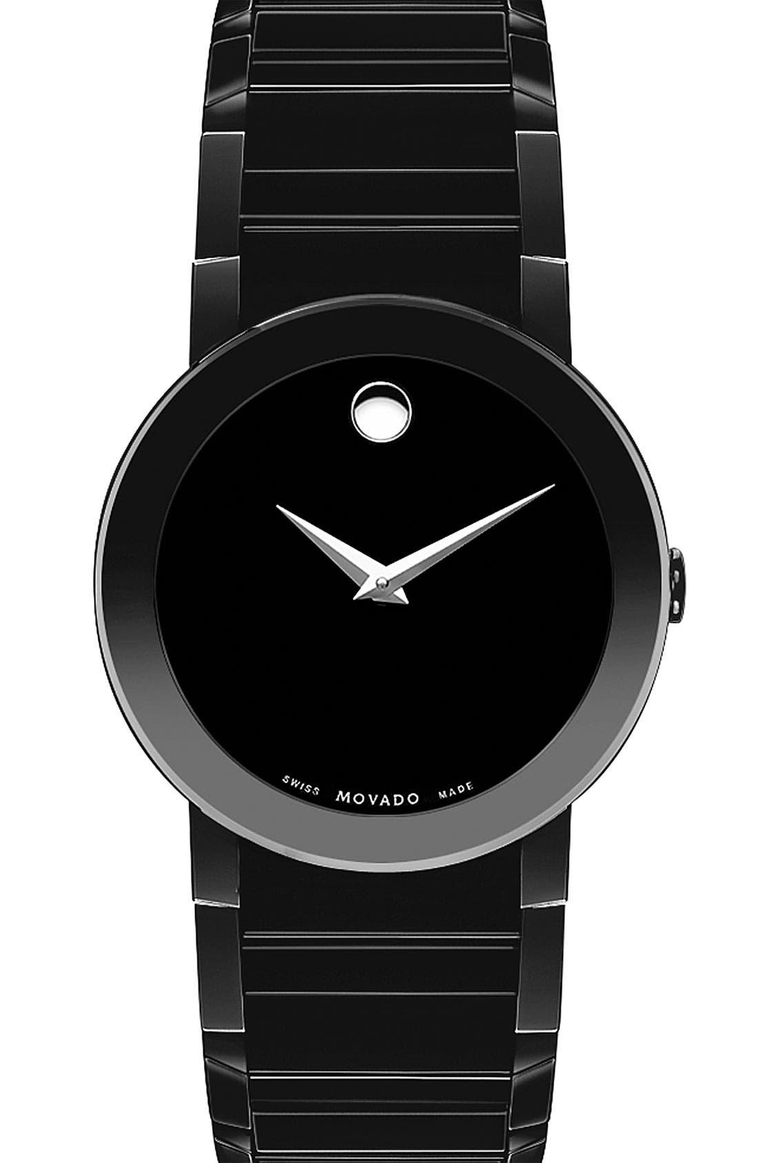 'Sapphire' Watch, 40mm,                         Main,                         color,  Black