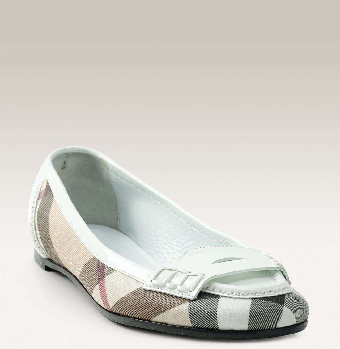 Main Image - Burberry Check Print Moccasin