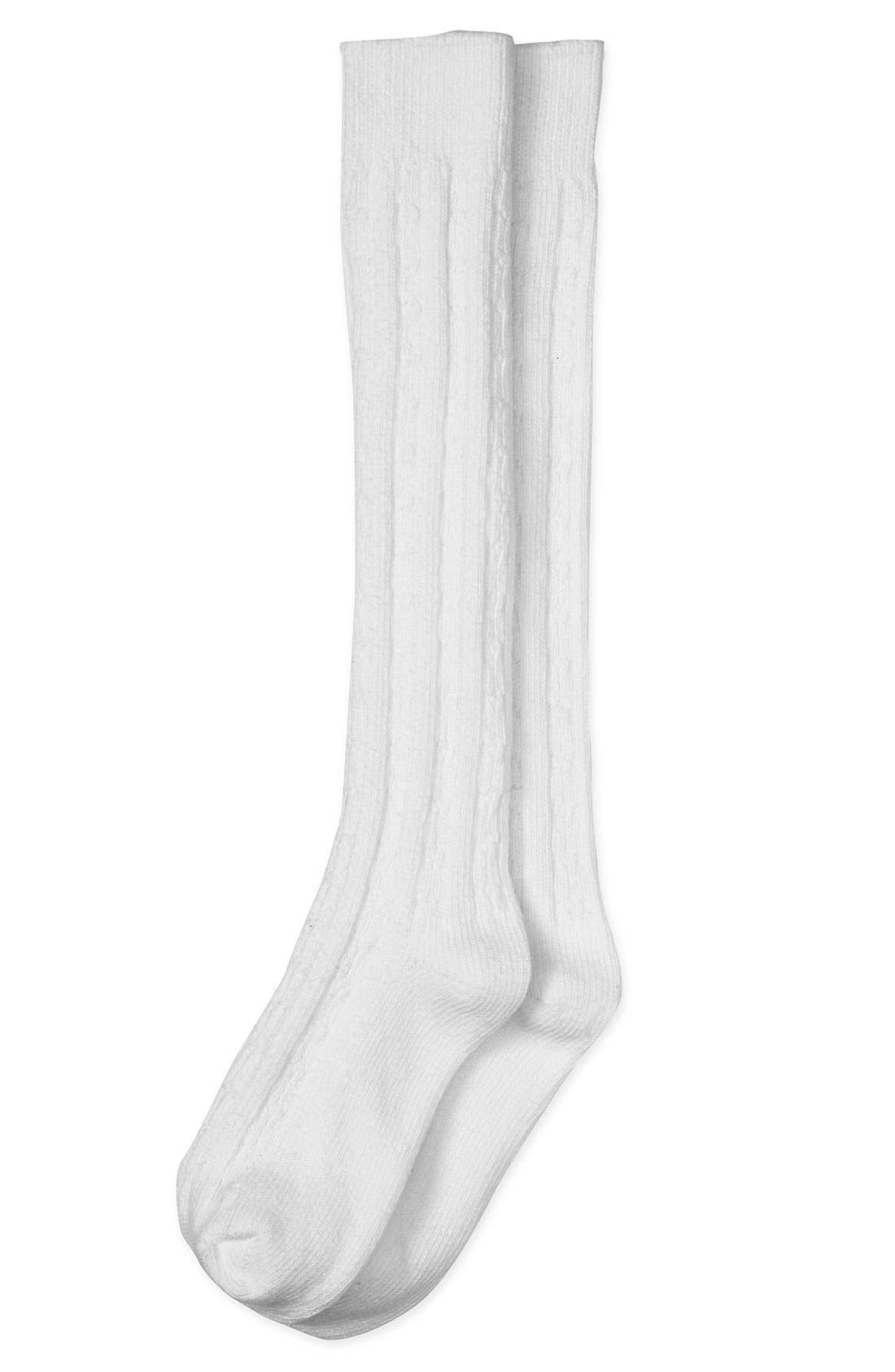 Alternate Image 1 Selected - Nordstrom Cable Knit Knee High Socks (2-Pack) (Girls)