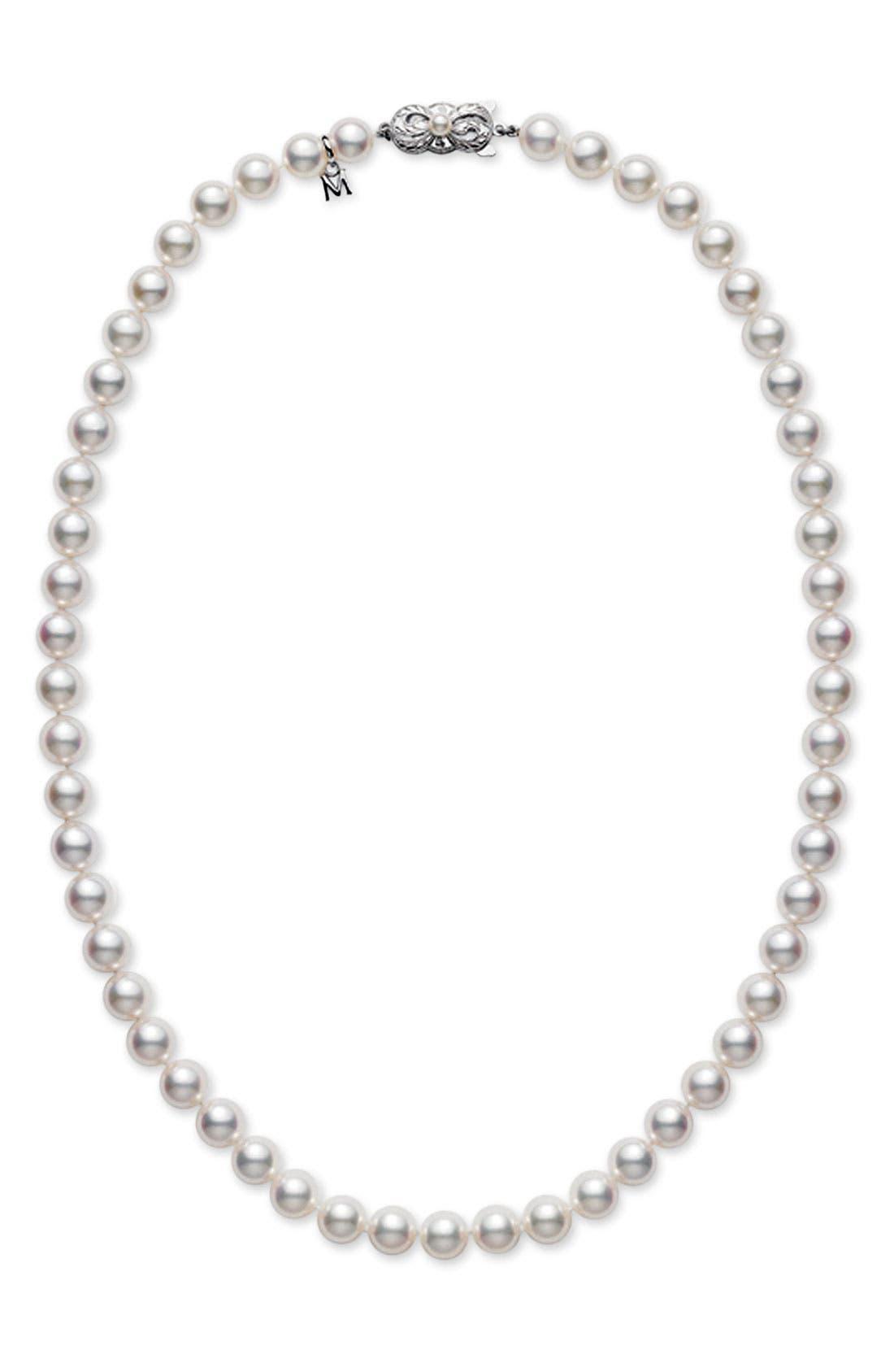 Pearl Necklace,                             Main thumbnail 1, color,                             Akoya Pearl