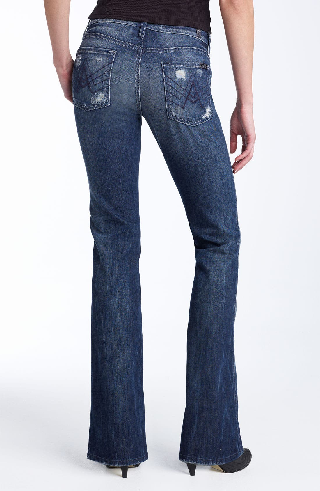 Main Image - 7 For All Mankind® 'A-Pocket' Stretch Jeans (Destroyed Beverly Glen Wash)