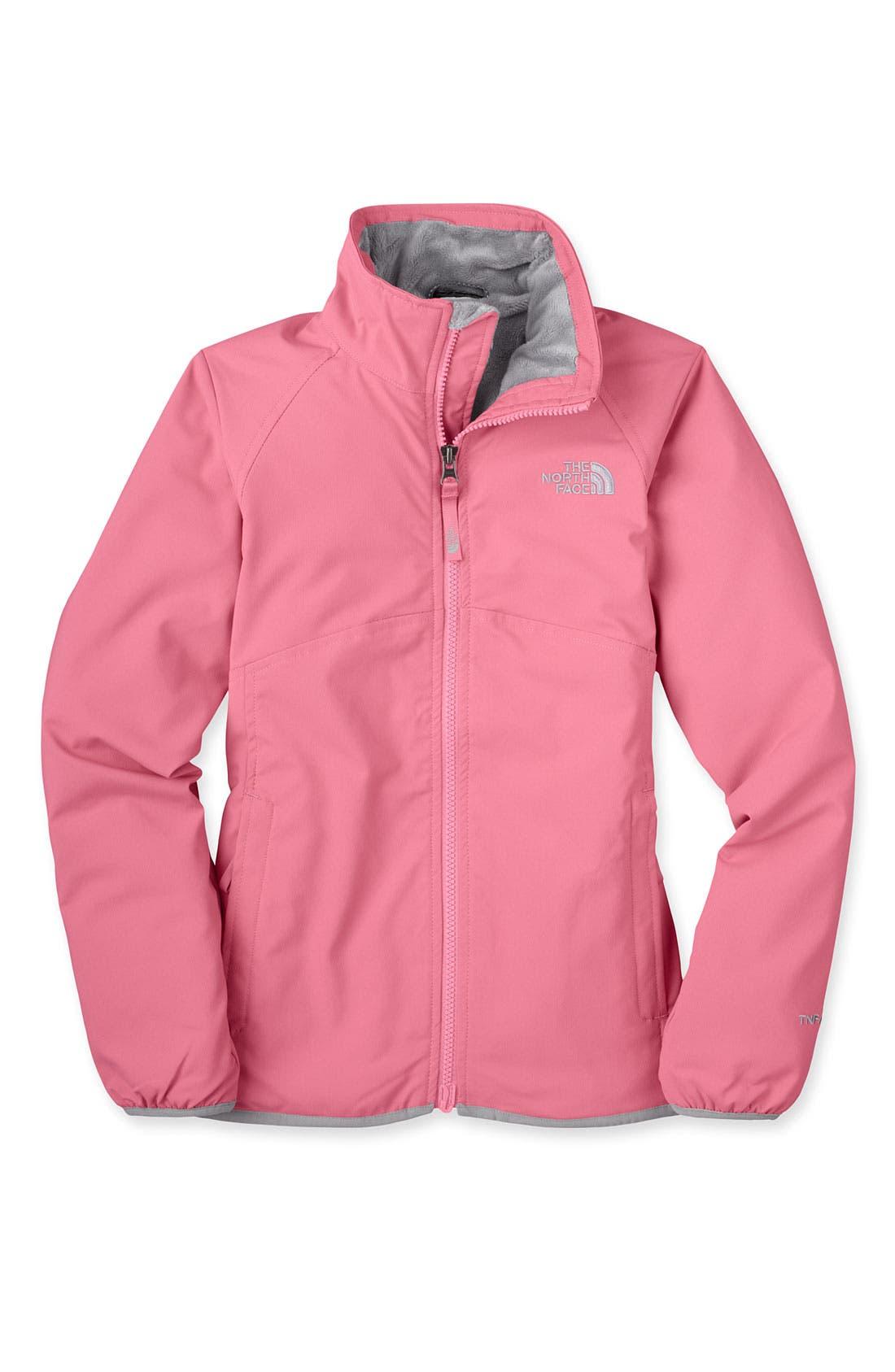 Main Image - The North Face 'Mossbud' Softshell Lightweight Jacket (Little Girls & Big Girls)