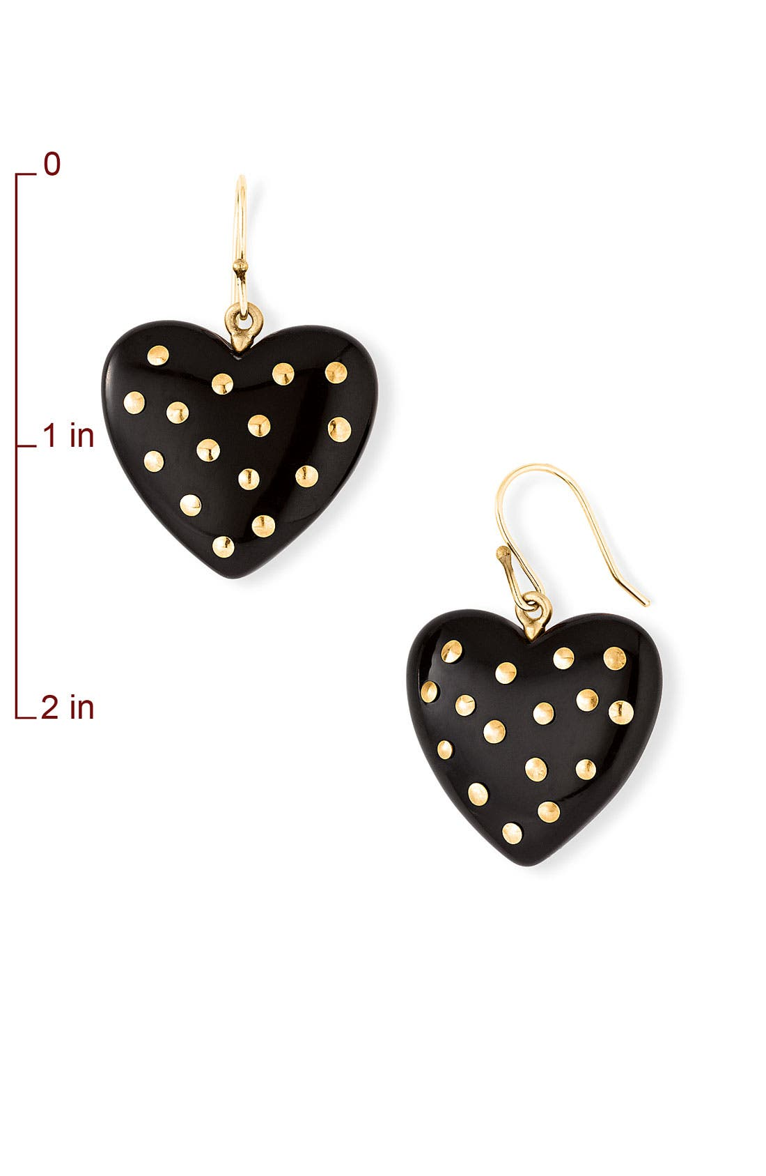 Alternate Image 2  - MARC BY MARC JACOBS 'House of Cards' Studded Heart Earrings