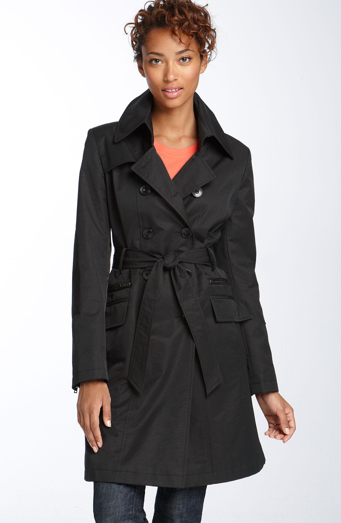 Alternate Image 1 Selected - DKNY 'Audrey' Double Breasted Trench