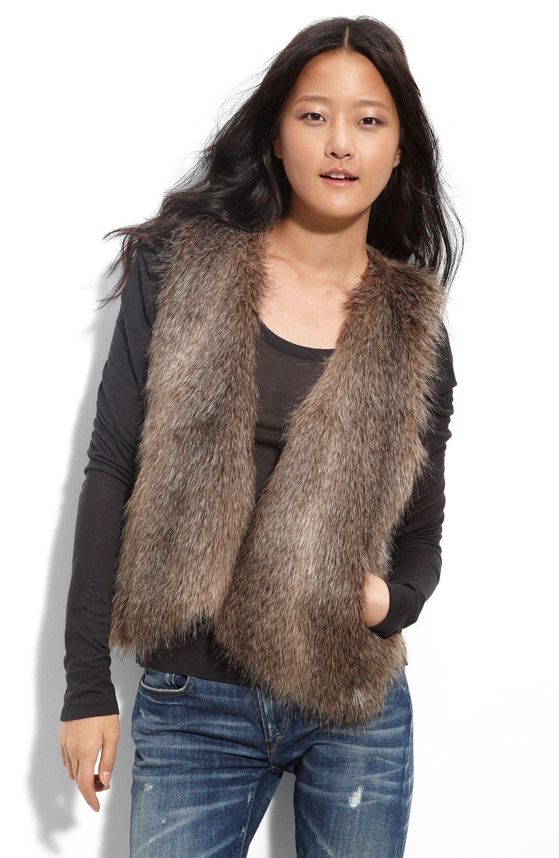Main Image - Ella Moss 'Kennedy' Faux Fur Vest