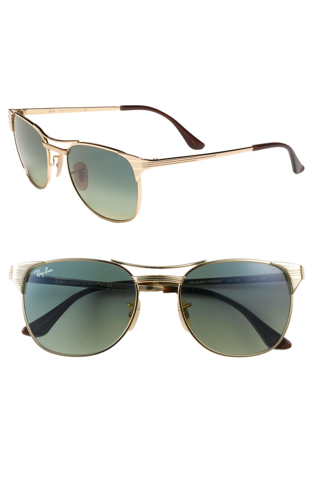 Alternate Image 1 Selected - Ray-Ban Metal Cat's Eye Aviator Sunglasses
