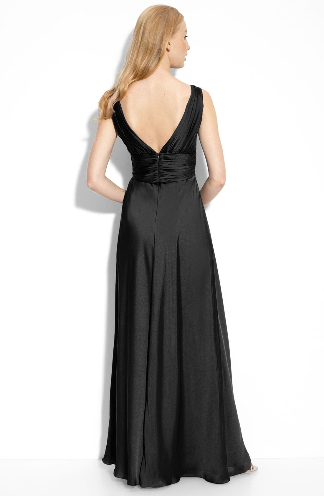 Alternate Image 2  - ML Monique Lhuillier Bridesmaids Pleated Gown (Nordstrom Exclusive)