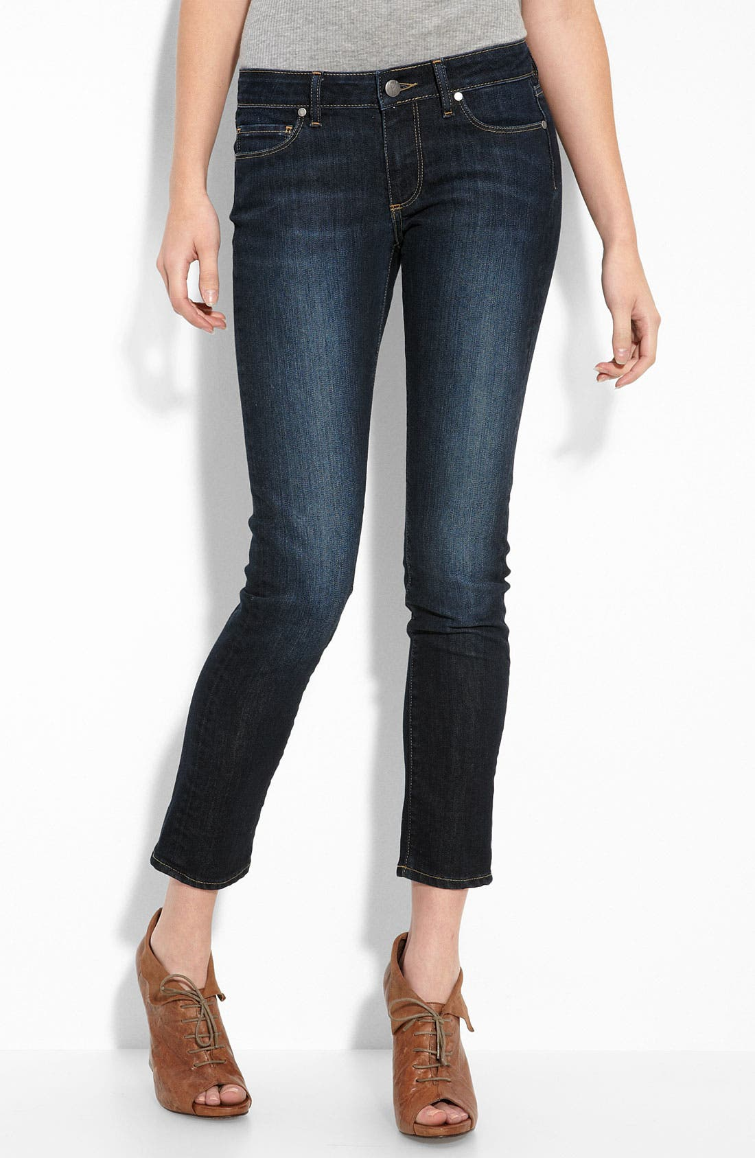 Denim 'Skyline' Ankle Peg Skinny Stretch Jeans,                             Main thumbnail 1, color,                             Super Rebellious