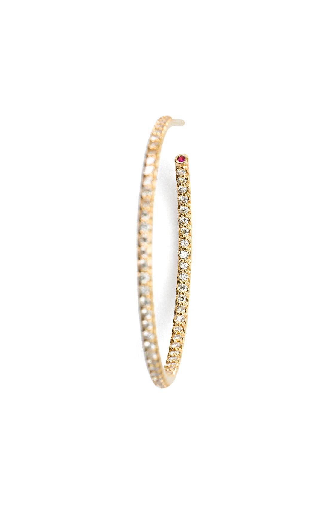 Alternate Image 3  - Roberto Coin Inside Out Diamond Hoop Earrings