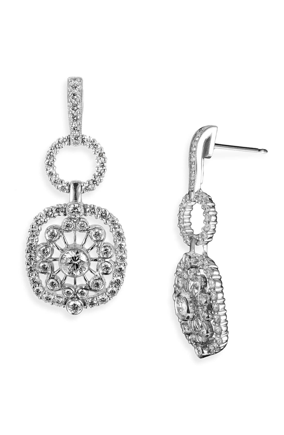 Main Image - Jack Kelége 'Byzantine' Square Diamond Earrings