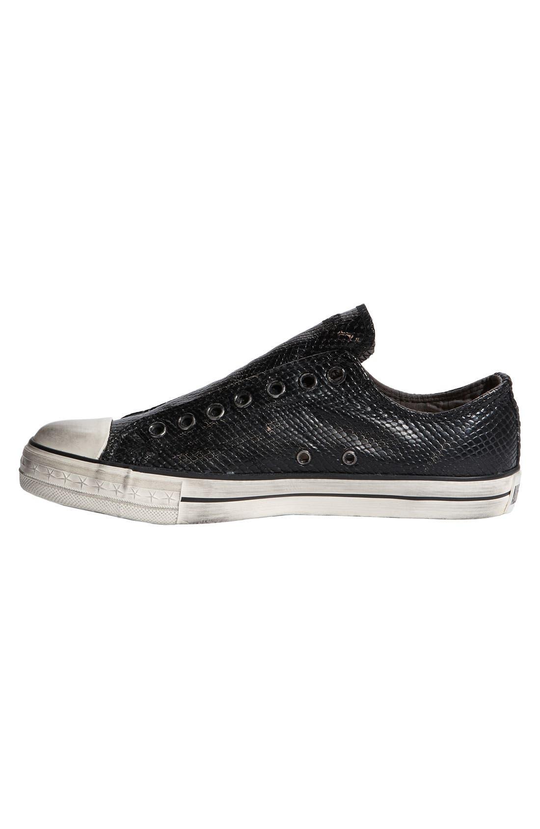 Alternate Image 3  - Converse Chuck Taylor® Textured Leather Slip-On
