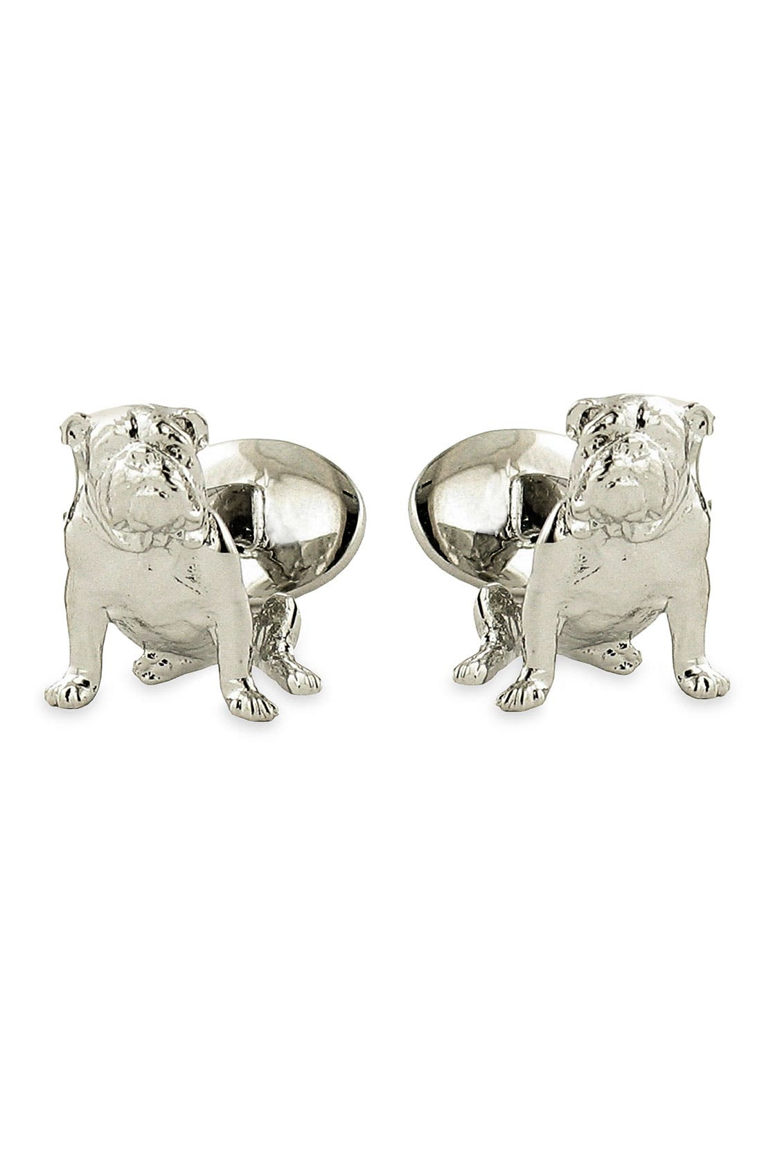 Main Image - David Donahue 'Bulldog' Sterling Silver Cuff Links