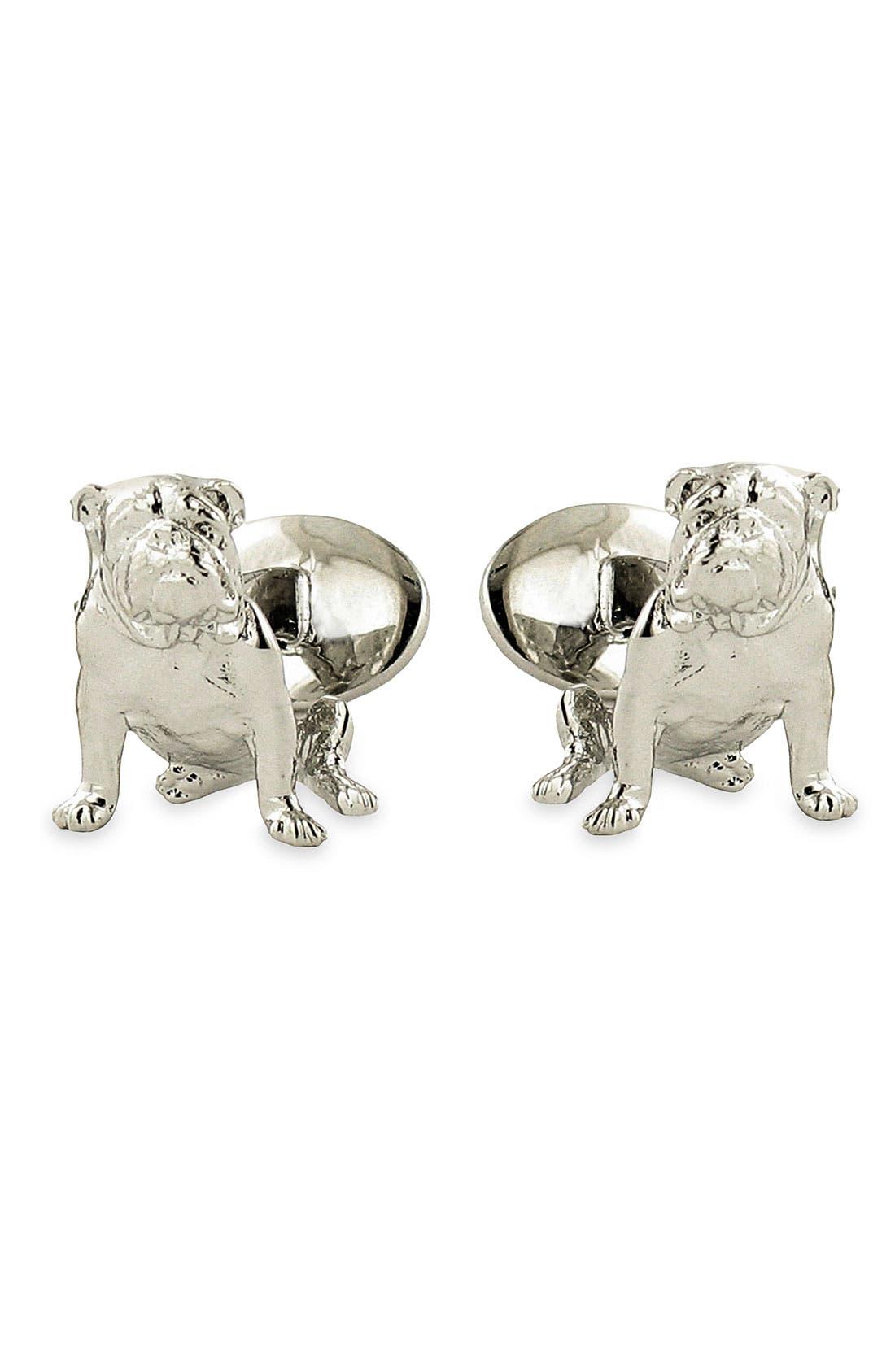 David Donahue 'Bulldog' Sterling Silver Cuff Links
