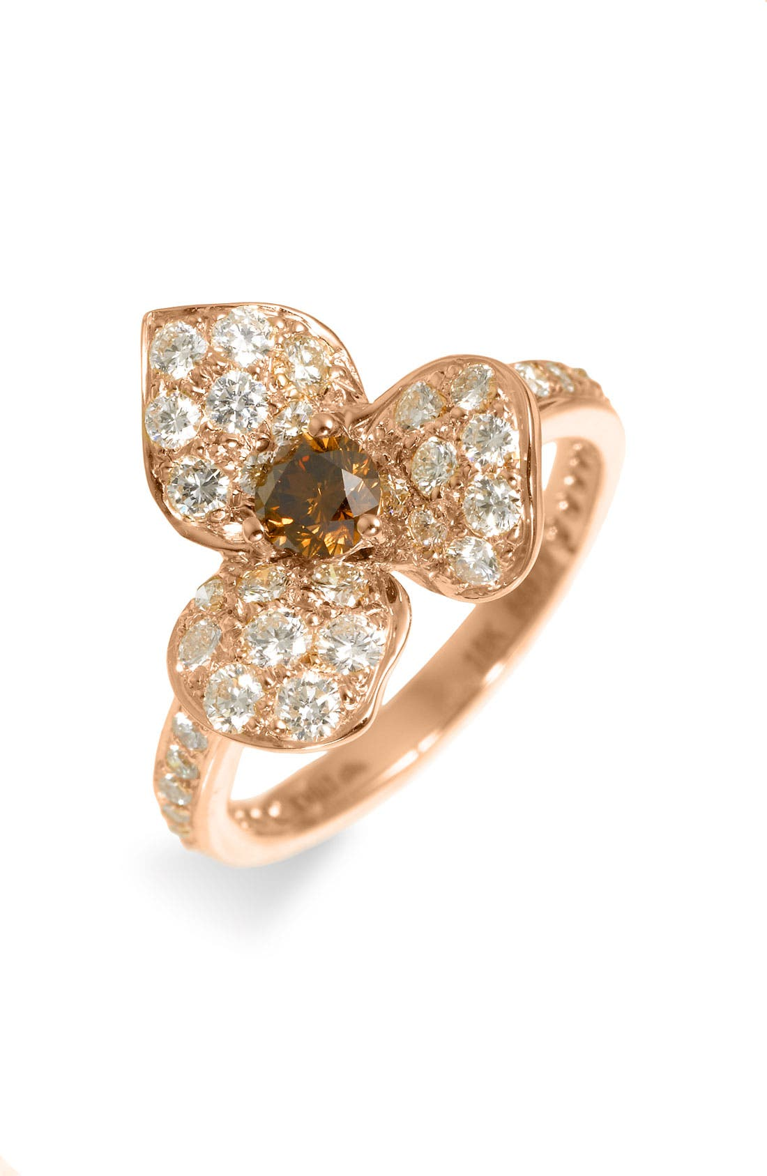 Alternate Image 1 Selected - Kwiat Champagne Diamond Flower Ring