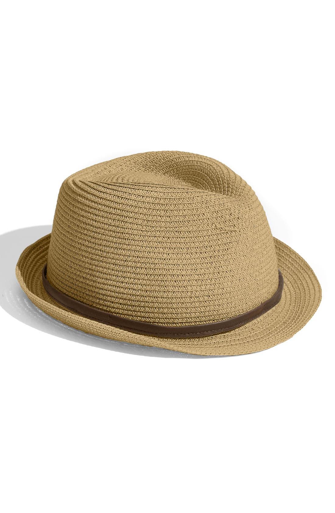 Alternate Image 1 Selected - Make + Model Straw Bowler Hat