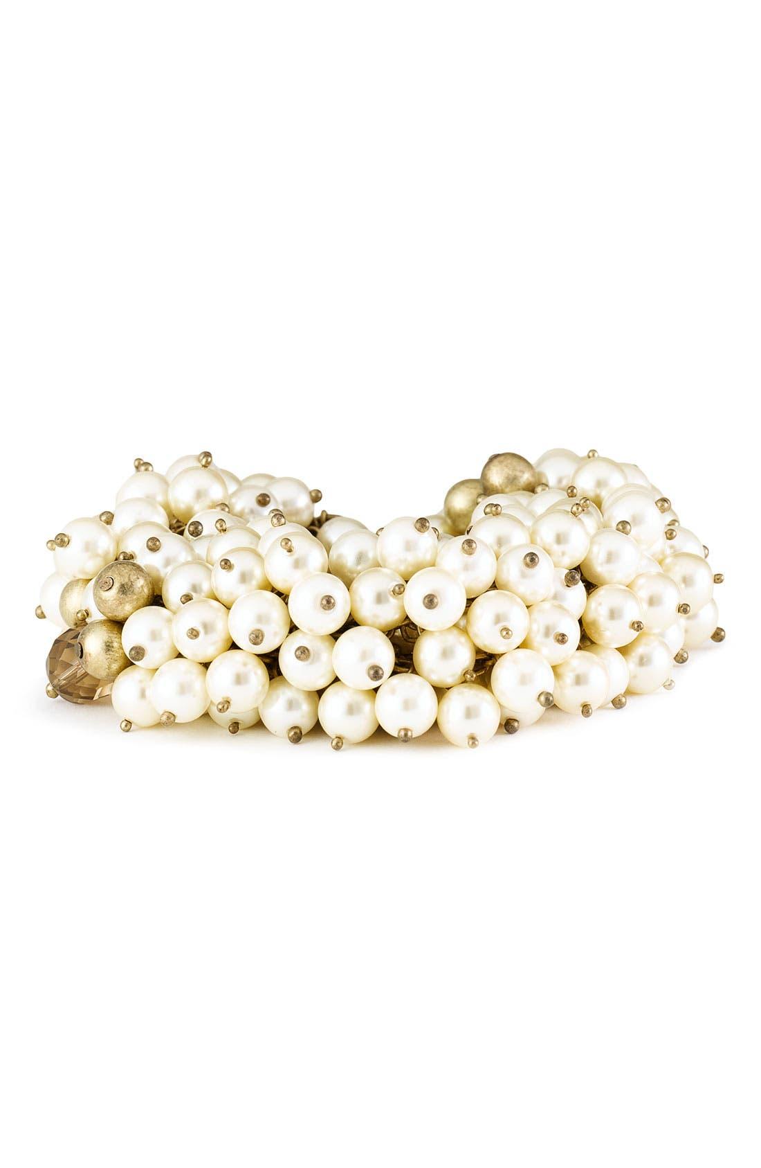 Main Image - St. John Collection Faux Pearl & Bead Bracelet