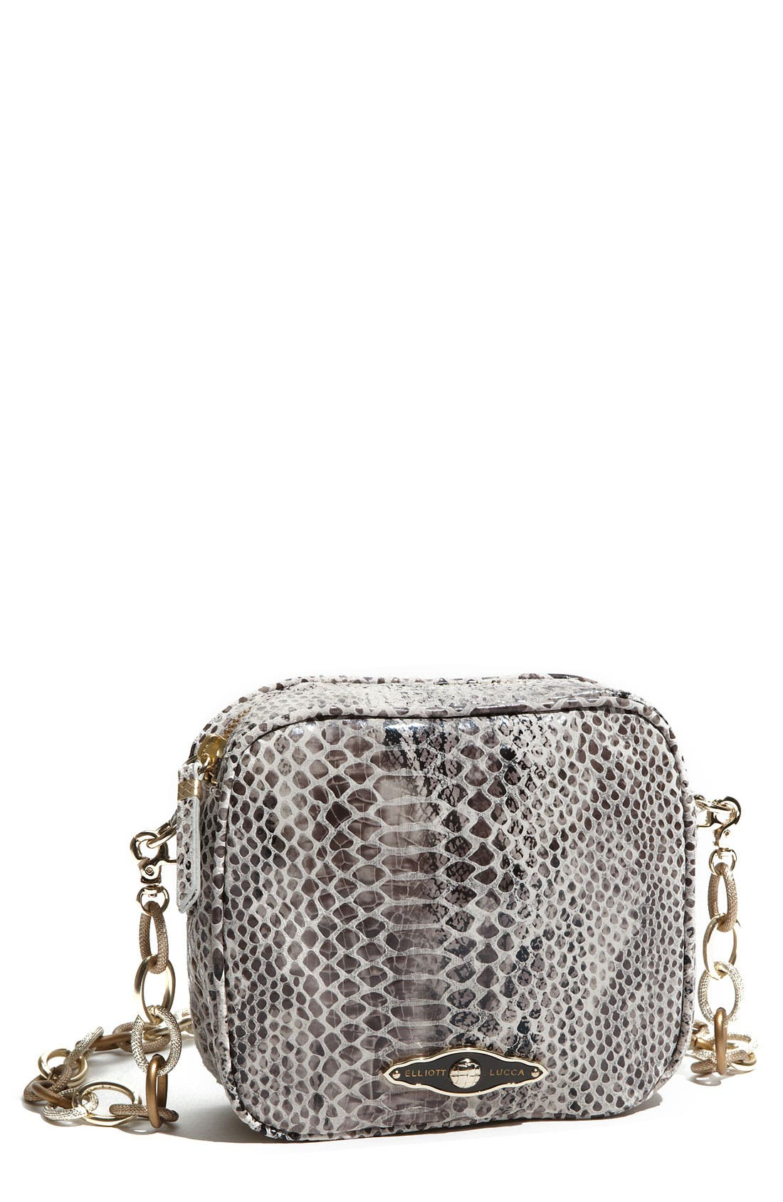 Alternate Image 1 Selected - Elliott Lucca 'Millana Camera' Snake Embossed Crossbody Bag