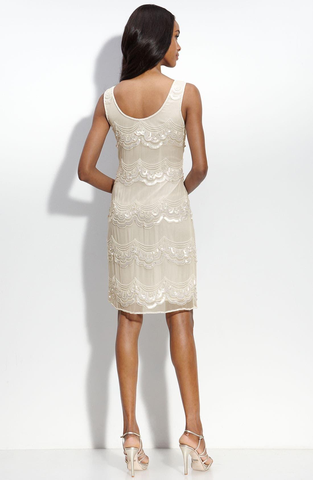 Alternate Image 2  - Pisarro Nights Sequined Silk Shift Dress