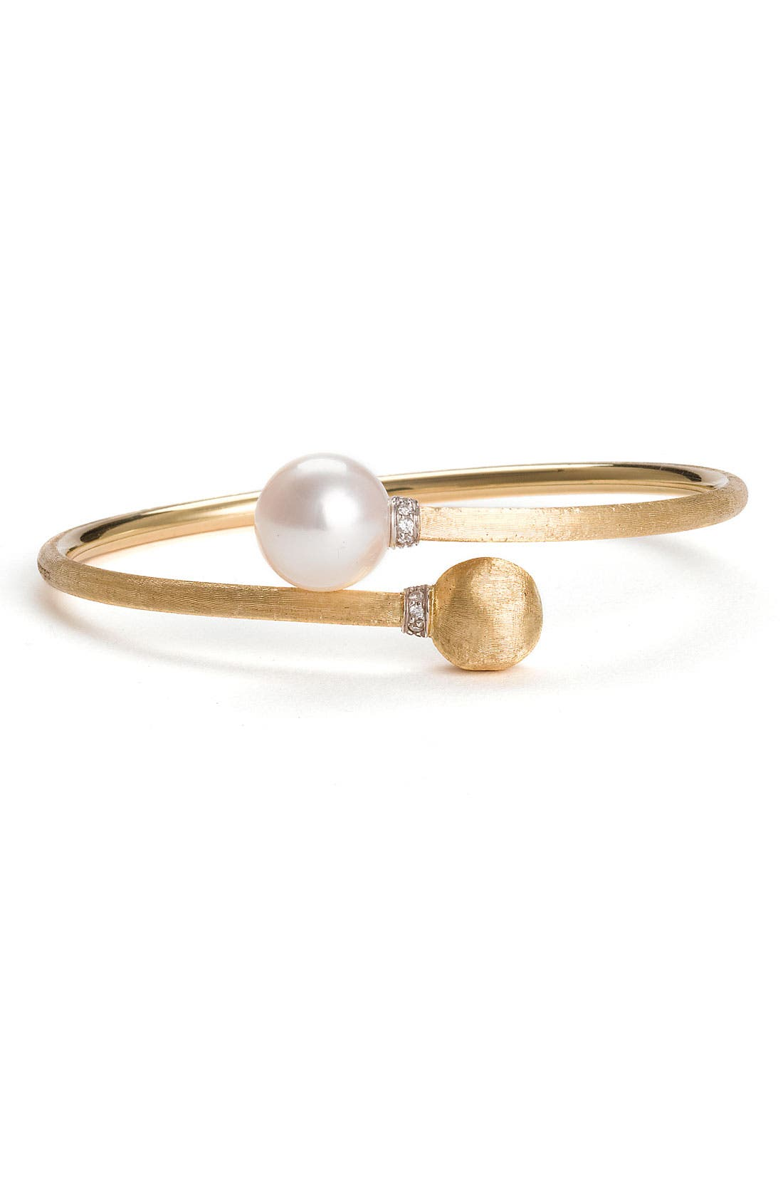 Alternate Image 1 Selected - Marco Bicego 'Africa' Pearl & Diamond Bangle