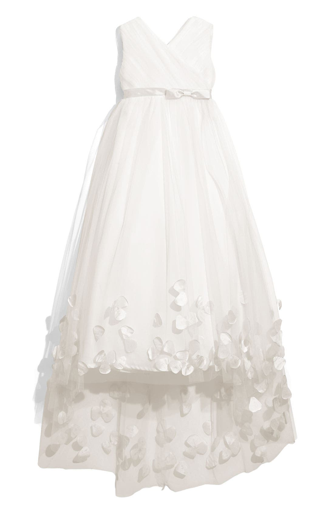 Alternate Image 1 Selected - Joan Calabrese for Mon Cheri Tulle & Taffeta Floor Length Dress (Little Girls & Big Girls)