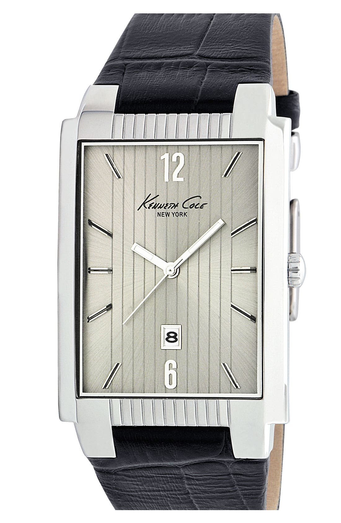 Alternate Image 1 Selected - Kenneth Cole New York Rectangular Watch