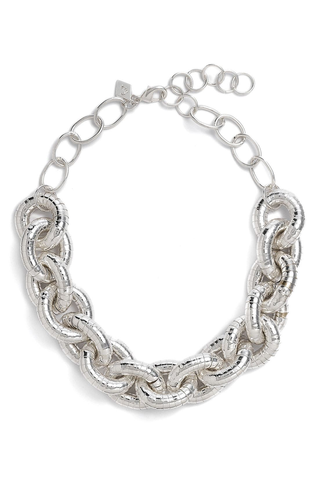 Main Image - Sequin Textured Status Link Necklace