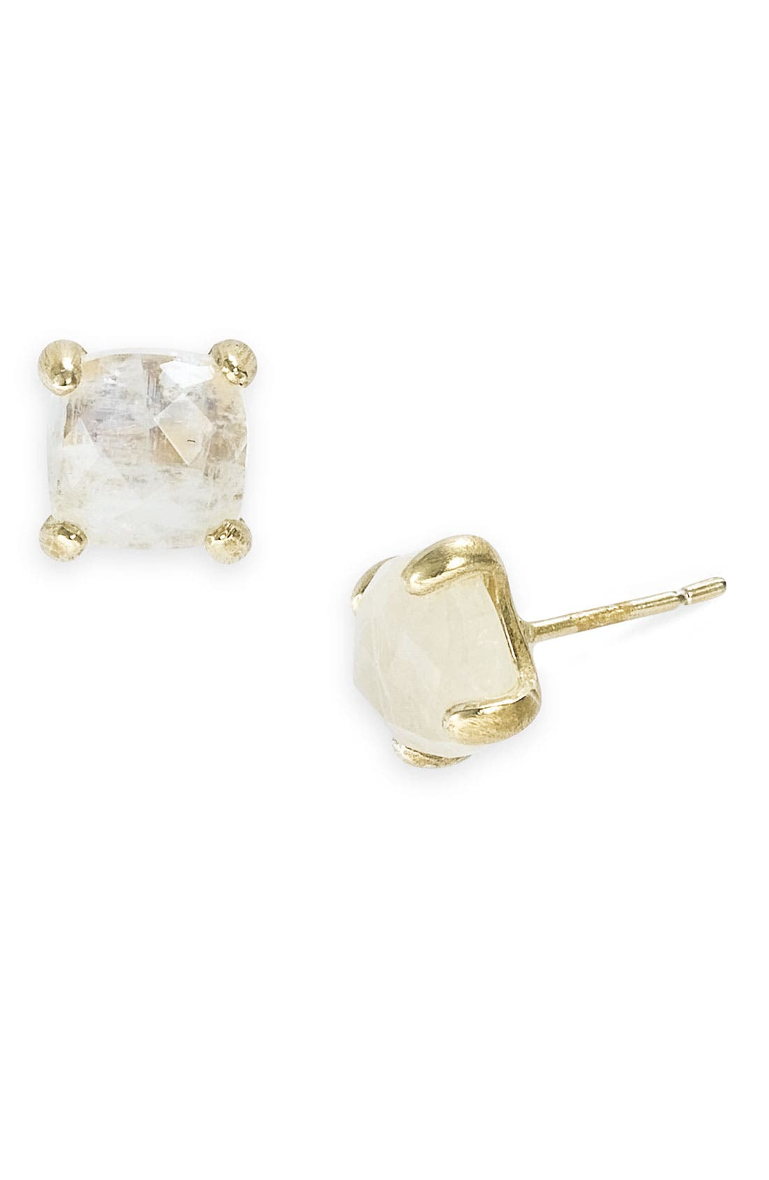 Alternate Image 1 Selected - NuNu Designs Square Semiprecious Stud Earrings