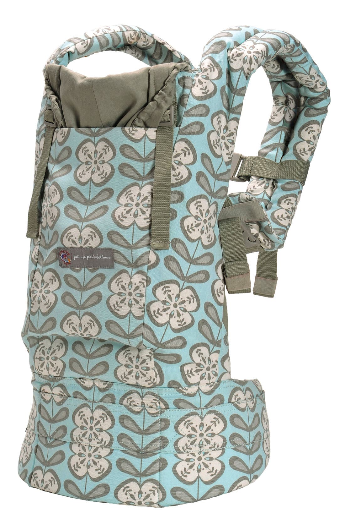 Baby Carrier with Petunia Pickle Bottom Print,                         Main,                         color, Peaceful Portofino