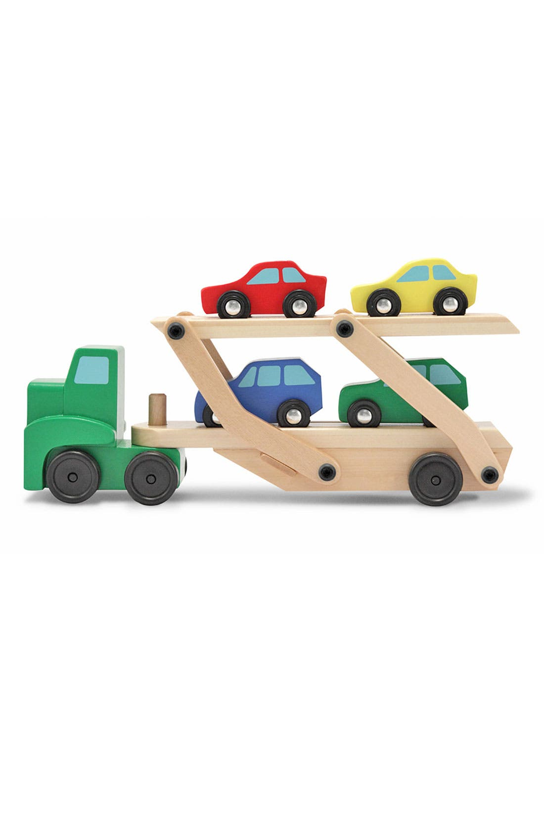 Wooden Car Carrier,                         Main,                         color, Green
