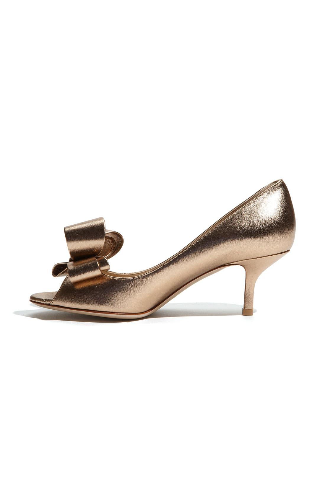 Alternate Image 2  - VALENTINO GARAVANI Metallic Nappa Couture Bow Pump
