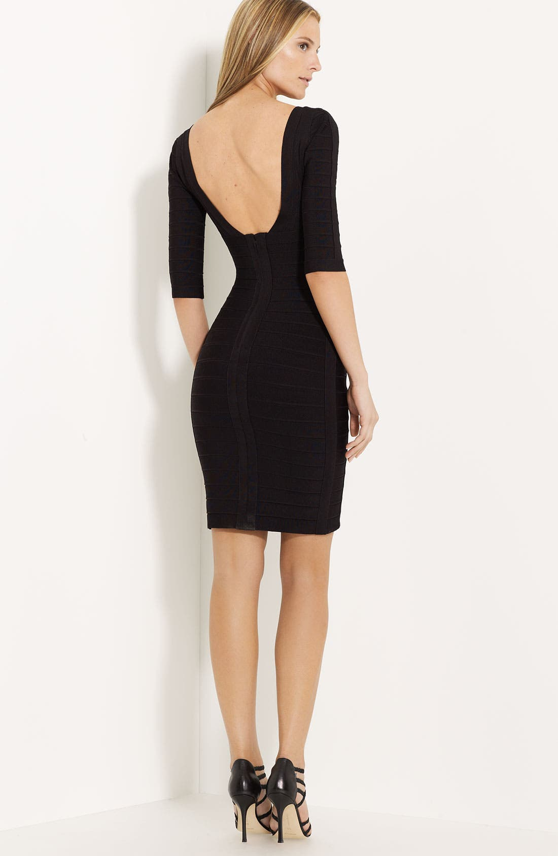 Alternate Image 2  - Herve Leger Scoop Back Bandage Dress