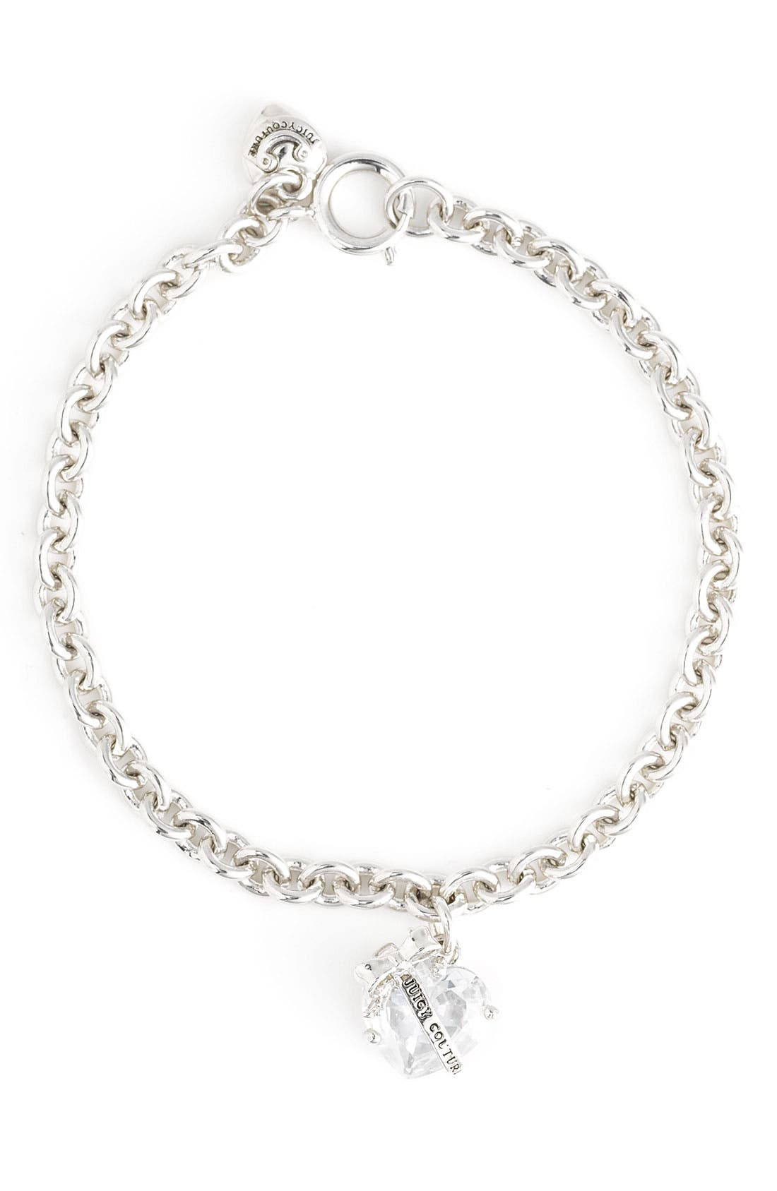 Alternate Image 1 Selected - Juicy Couture 'Wish' Banner Heart Bracelet