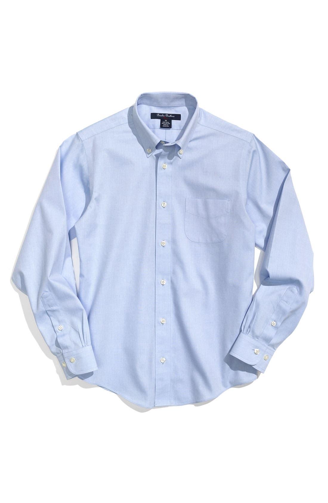 Alternate Image 1 Selected - Brooks Brothers Dress Shirt (Big Boys)