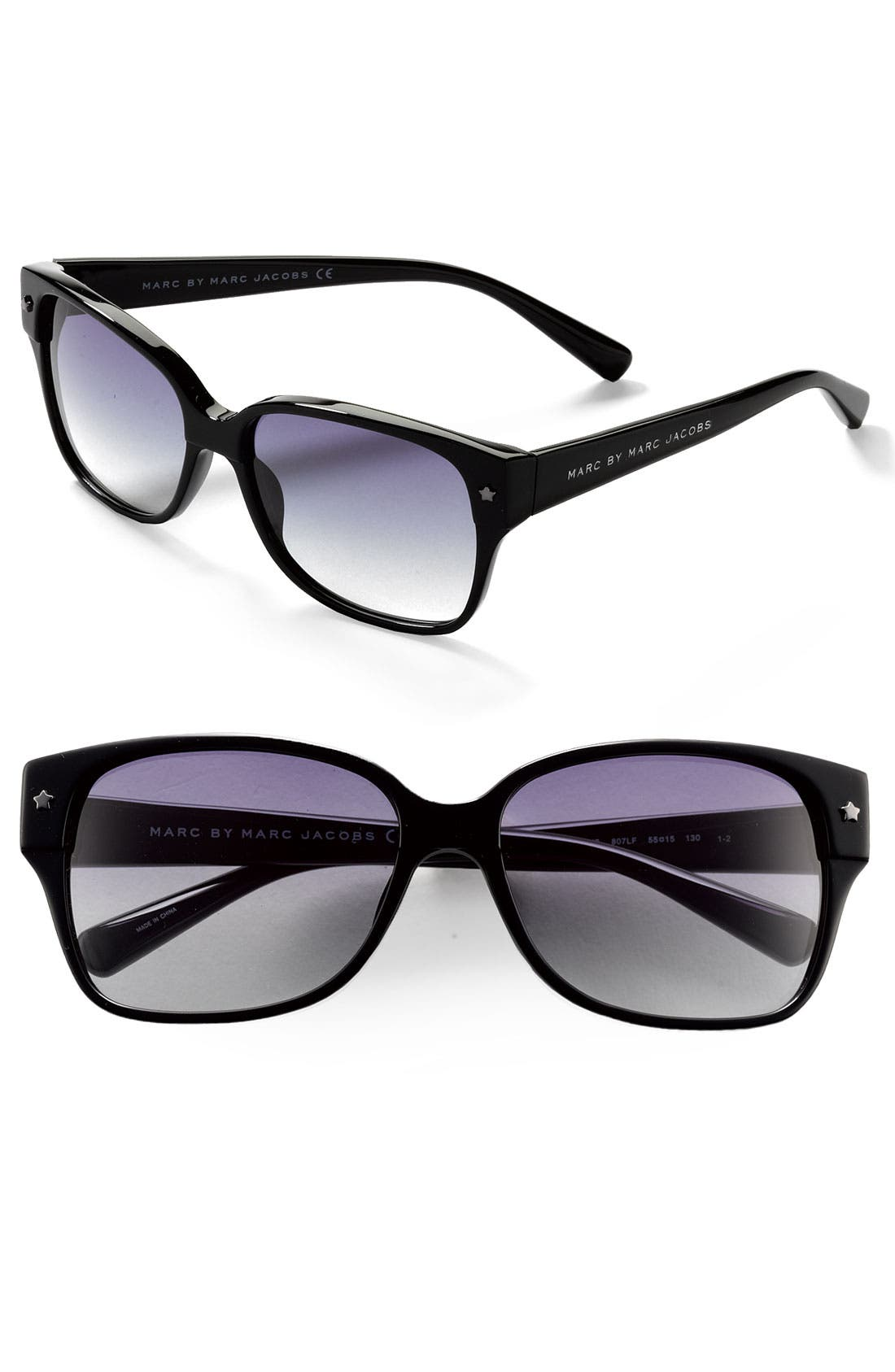 Alternate Image 1 Selected - MARC BY MARC JACOBS Colorblock Cat's Eye Sunglasses