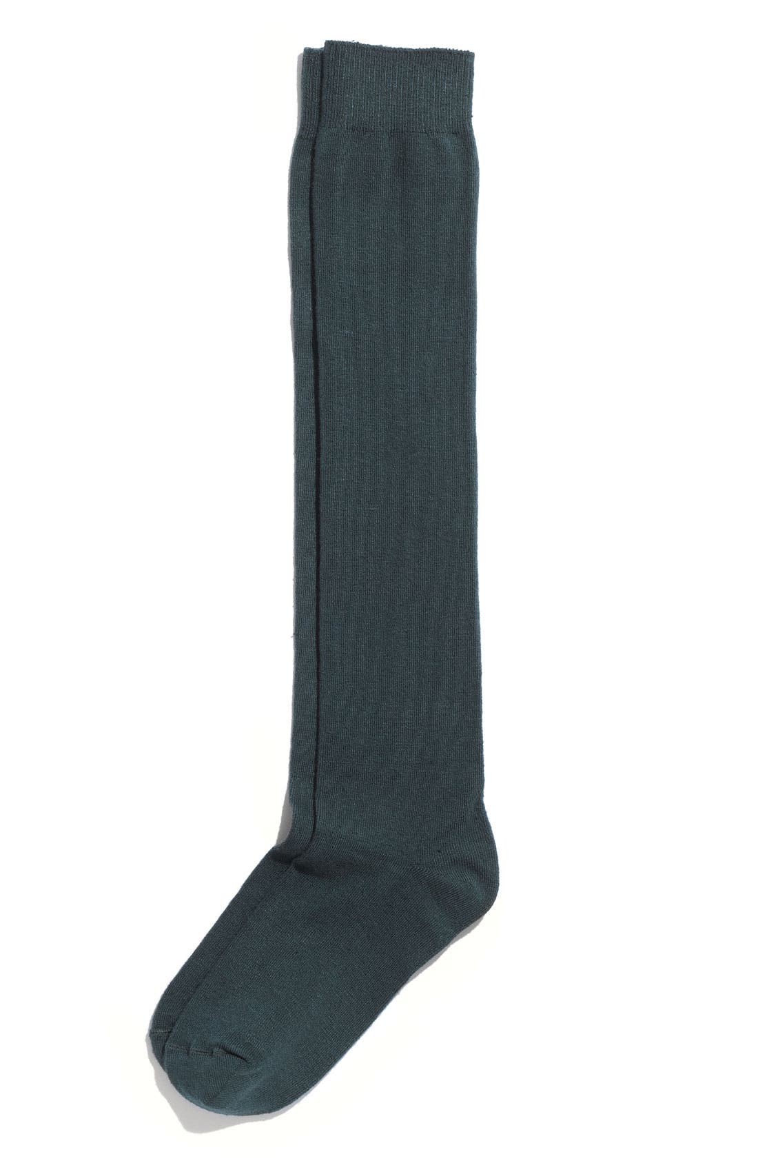 Main Image - Hue Flat Knit Knee Socks (3 for $21)