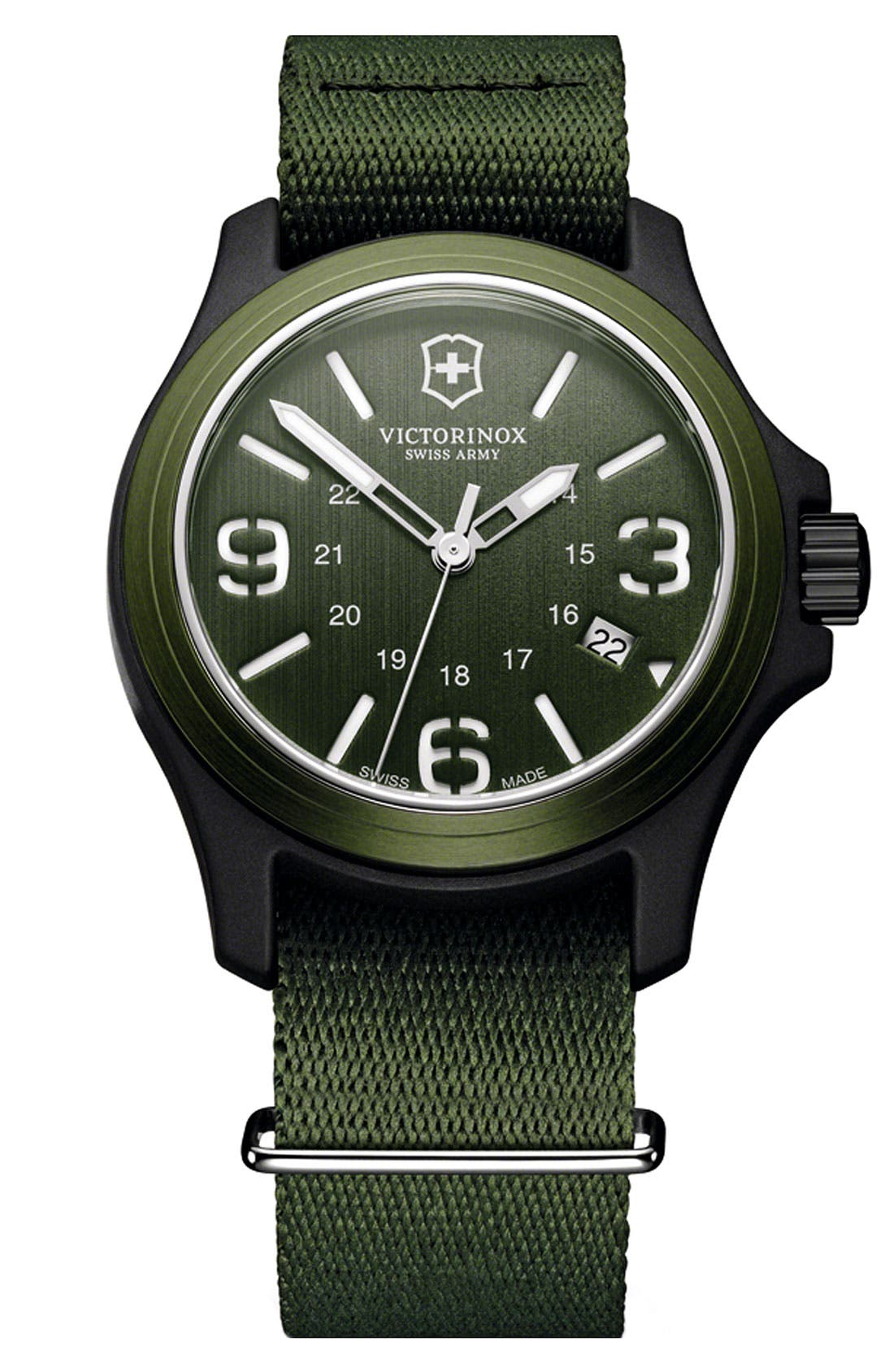 Alternate Image 1 Selected - Victorinox Swiss Army® 'Original' Nylon Strap Watch, 40mm