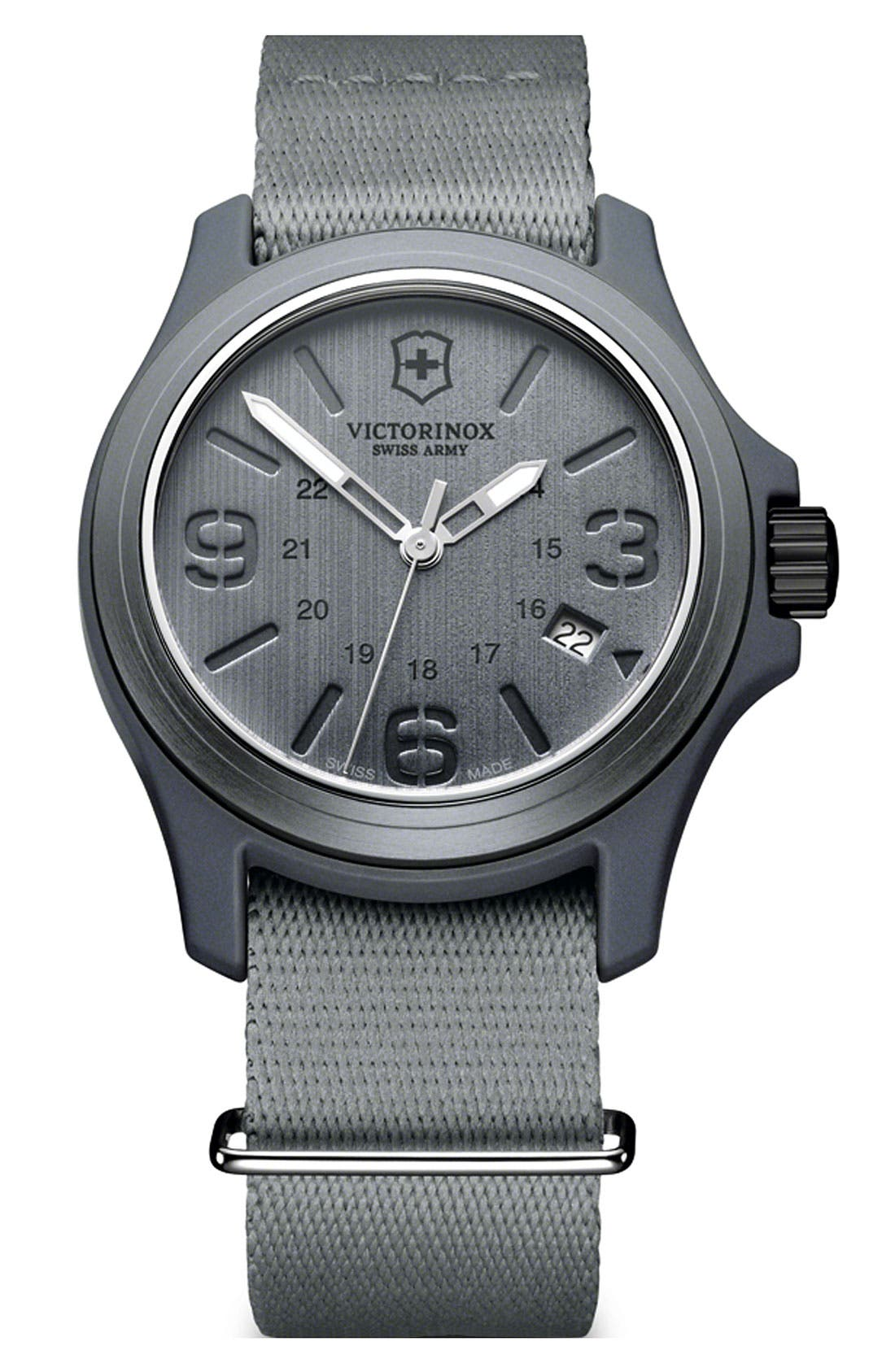 Alternate Image 1 Selected - Victorinox Swiss Army® 'Original' Nylon Strap Watch, 40mm