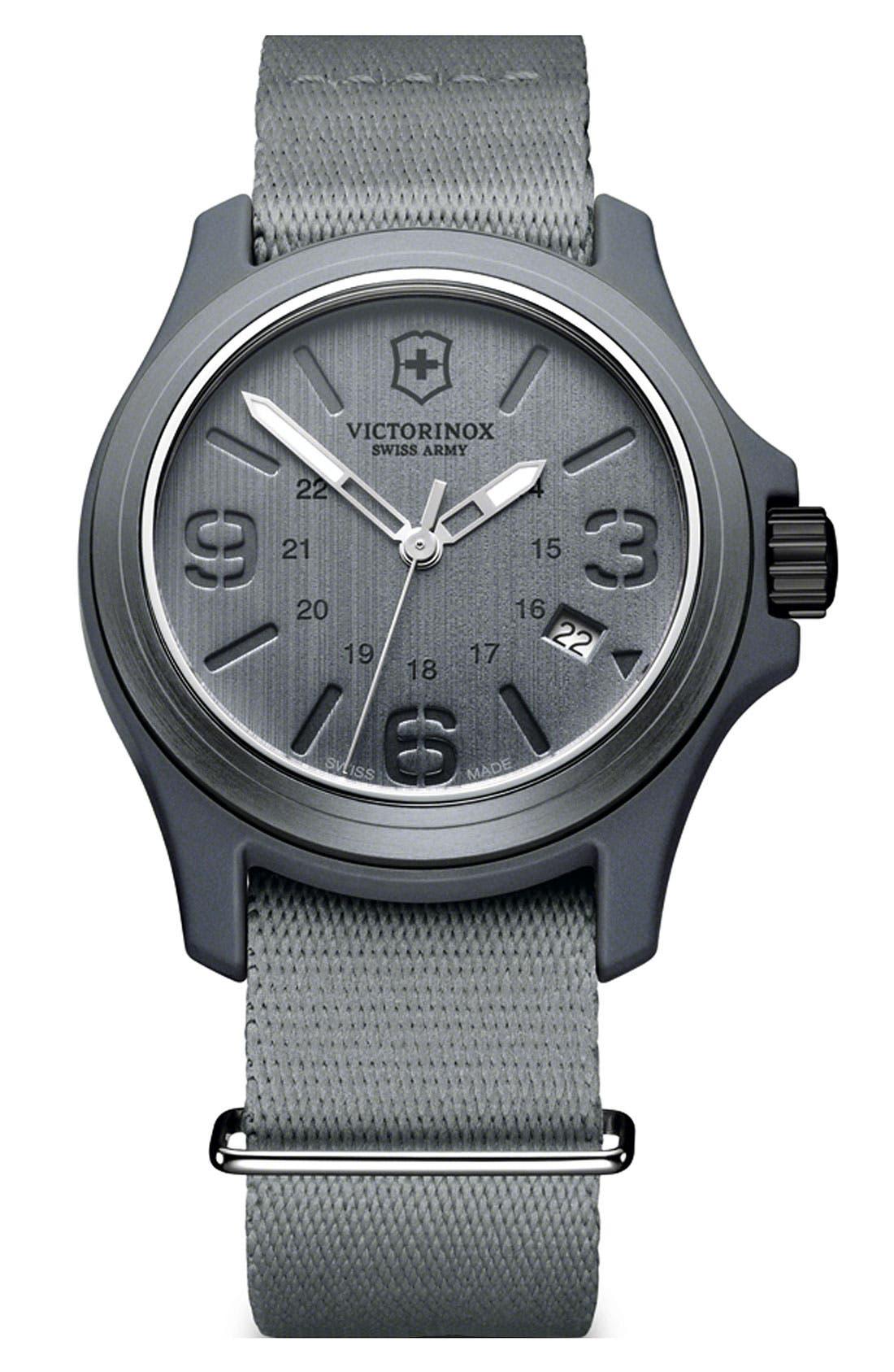Main Image - Victorinox Swiss Army® 'Original' Nylon Strap Watch, 40mm