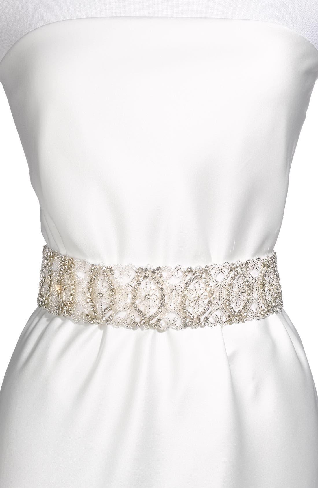 Main Image - Cara Beaded Bridal Belt