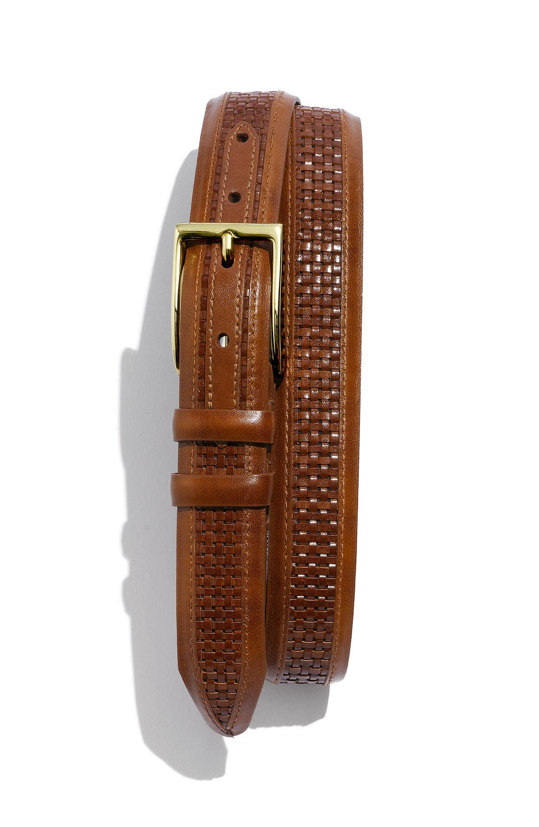 Alternate Image 1 Selected - Allen Edmonds Woven Inlay Belt