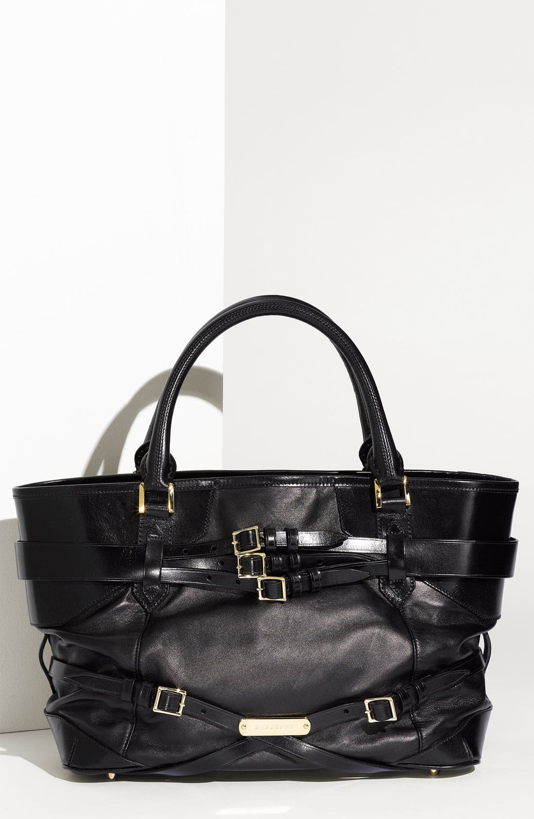 Alternate Image 1 Selected - Burberry Leather Shopper