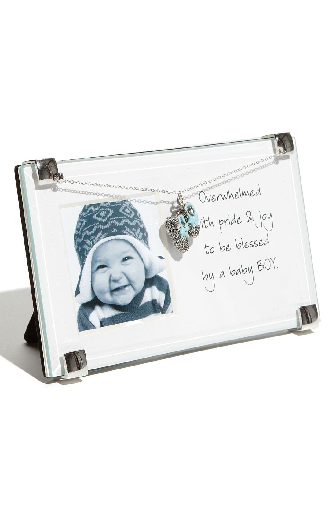Alternate Image 1 Selected - Mud Pie New Baby Boy Picture Frame